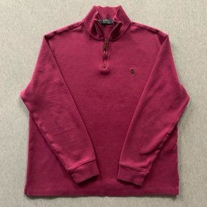 Polo Ralph Lauren Magenta Half Zip Sweater